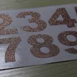 Rose Gold Diamond Number Sticker Sheet 30ct.