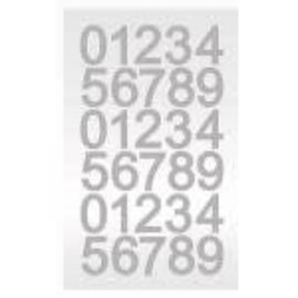 Silver Diamond Number Sticker Sheet 30ct.