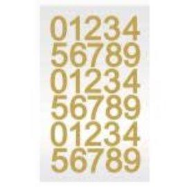 Gold Glitter Diamond Sticker Sheet 30ct