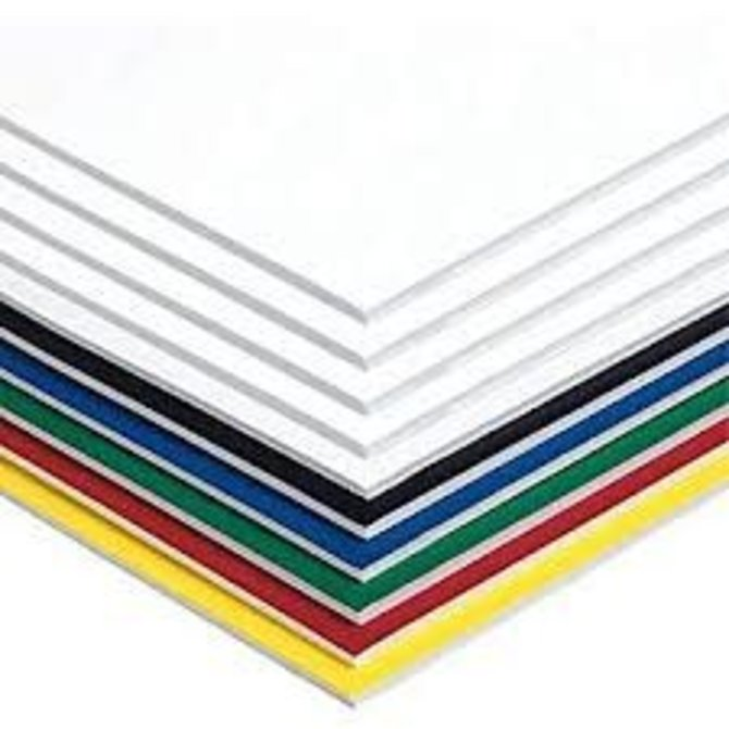"Assorted Colors Foam Board  12"" x 18"""