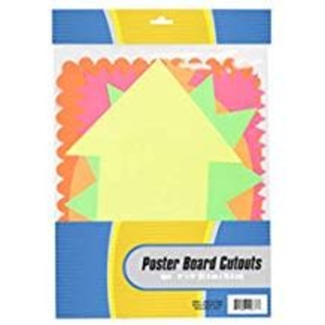 5 PC. Poster Board Cut Outs