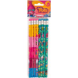 Trolls Pencils, 8ct