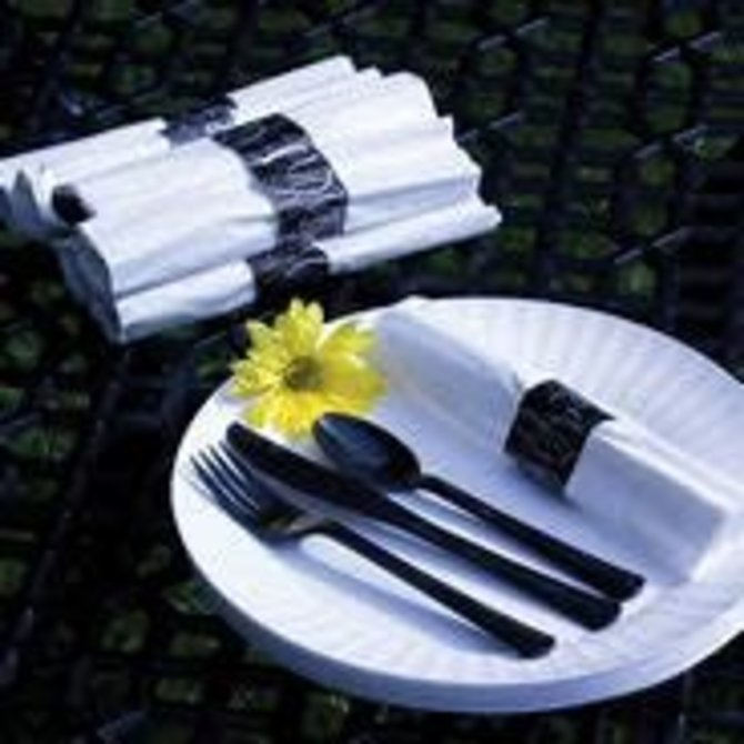 25ct Rolled Cutlery Set