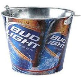 Bud Light Metal Beer Bucket