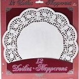 "12"" White Doilies, 12ct"