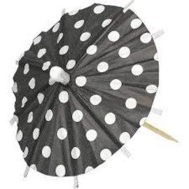 Parasol Pick Black, 120ct