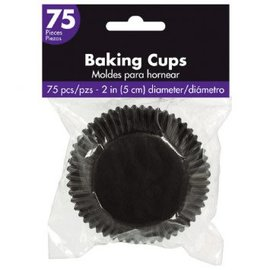 Cupcake Cases - Black 75ct