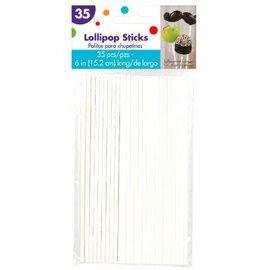 6'' Lollipop Sticks, 35ct