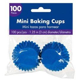 Mini Cupcake Cases - Bright Royal Blue 100ct