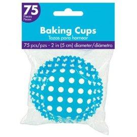 Cupcake Cases - Caribbean Dot 75ct