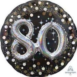 """Sparkling 3D 80 Balloon, 32"""""""