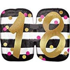 """18th Birthday Balloon, 25""""x20"""""""