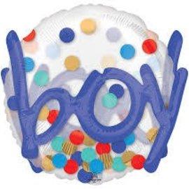 "It's a Boy Confetti Dots Balloon, 36"""