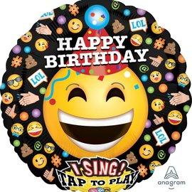 "Emoticon ""It's Your Birthday"" Singing Balloon, 28"""