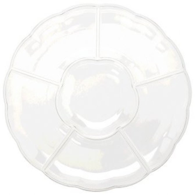 "16"" Compartment Tray Clear"