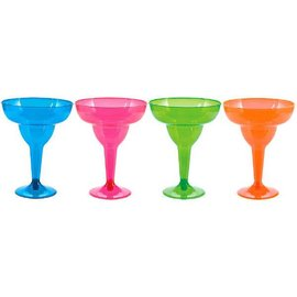 Neon 11oz Margarita Glasses Asst. 20ct