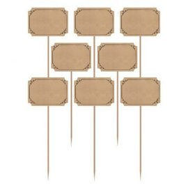 Large Kraft Paper Party Picks 12ct