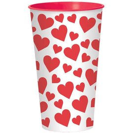 Happy Valentine's Day Large Plastic Cup