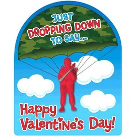 Valentine's Day Card w/ Paratrooper, 12ct