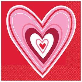 Valentine Wishes Beverage Napkins 36ct