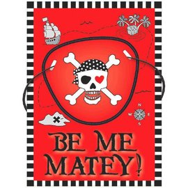 Valentine Pirate Cards w/ Eye Patches 12ct