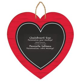 """Heart Sign w/Rope Hanger                          13 1/8"""" x 13""""     MDF w/Chalkboard"""