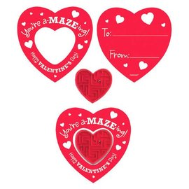 Cards with Heart Maze Puzzles