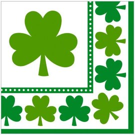 Lucky Shamrocks Beverage Napkins 16ct