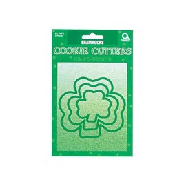 Shamrock Plastic Cookie Cutters 3 pack