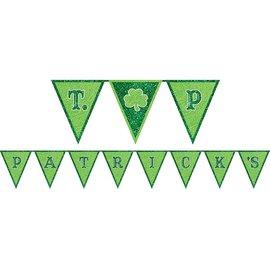 St. Patrick's Day Felt Glitter Pennant Banner
