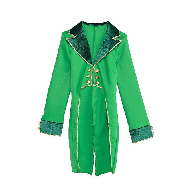 Adult Green Leprechaun Tailcoat  -Standard size