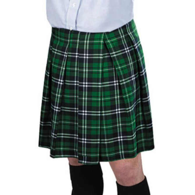 Adult Green Plaid Kilt -Standard Size