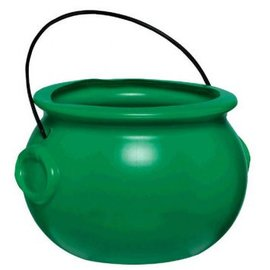 Plastic Pot Of Gold - Green