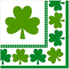 Lucky Shamrocks Luncheon Napkins 16ct