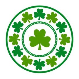"Lucky Shamrocks Round Plates, 9"" 8ct"