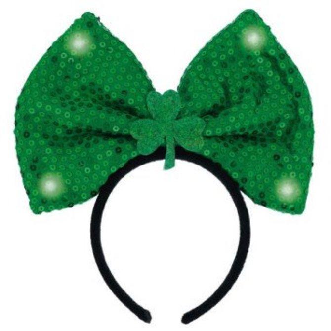 St Patricks Day Headband With Bow