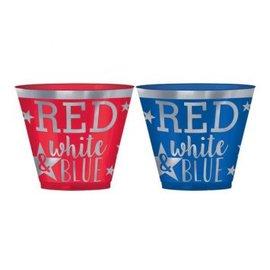 Red & Blue Hot Stamp Plastic Tumblers, 9 oz 30ct