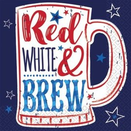 Red White & Brew Beverage Napkins