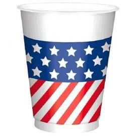 Patriotic Printed Plastic Cups