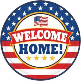 "Welcome Home Round Plates, 9""-18ct"