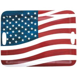 "Patriotic American Flag Serving Tray, 19 3/4"" x 14 1/2"""