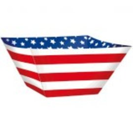 Red, White And Blue Paper Square Bowls-3ct