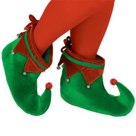 Green & Red Elf Shoes