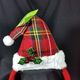 Plaid Santa Hat Holiday Headband