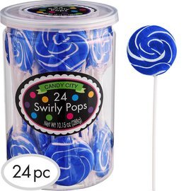 Swirly Pops 24ct.-Blue