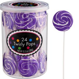 Swirly Pops 24ct.-Purple