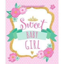 "Sweet Baby Girl - Medium Gift Bag                 9 1/2""H x 8""W x 4 1/2""D"