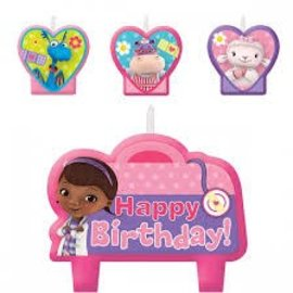 Doc McStuffins Birthday Candle Set - Clearance