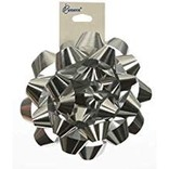 "4"" Metallic Bow- Silver"
