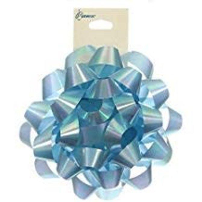 "4"" Iridescent Bow- Light Blue"